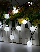 Недорогие -YWXLIGHT® 5 метров Гирлянды 30 светодиоды 1шт Тёплый белый / Холодный белый Хэллоуин / Рождество Декоративная Солнечная энергия