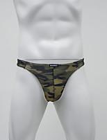 cheap -Men's Print G-string Underwear - Normal Low Waist Army Green M L XL
