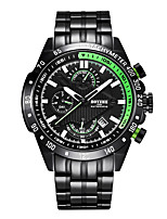 cheap -Men's Sport Watch Automatic self-winding Modern Style Sporty Stainless Steel Black 30 m Calendar / date / day Shock Resistant Noctilucent Analog Casual Outdoor - Black Black / Green