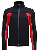 cheap -Jaggad Men's Long Sleeve Cycling Jersey Black / Red Black / Green Black / Blue Patchwork Bike Jersey Top Mountain Bike MTB Road Bike Cycling Breathable Quick Dry Sweat-wicking Sports Clothing Apparel