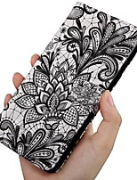 cheap -Case For Samsung Galaxy A5(2018) / A6 (2018) / A6+ (2018) Wallet / Card Holder / with Stand Full Body Cases Flower PU Leather