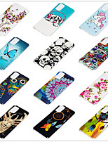 cheap -Case for Samsung scene map Samsung Galaxy S20 S20 PLUS S20Ultra A51 A71 Cartoon flower pattern shiny TPU material IMD process luminous all-inclusive mobile phone case