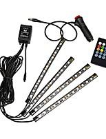 Недорогие -Квадратная Ambinet Light Светодиодный ночник Водонепроницаемый / Подсветка для авто Дистанционное управление Хэллоуин / Рождество Батарея с батарейкой 1 комплект