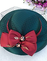 cheap -Net Fascinators with Bow(s) 1 Piece Wedding / Tea Party Headpiece
