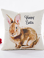 cheap -1 pcs Polyester Pillow Cover, Print Square Traditional Classic