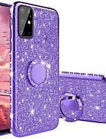 Недорогие -алмазный 360 градусов вращающийся держатель кольца покрытие мягкой тпу блестящие чехлы для samsung galaxy s20 s20 plus s20 ultra s10 s10 plus s10e