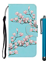 cheap -Case For Apple iPhone 11 / iPhone 11 Pro / iPhone 11 Pro Max Wallet / Card Holder / with Stand Full Body Cases Magnolia PU Leather / TPU for iPhone 7 / 7 Plus / 8 / 8 Plus / X / XS / XR / Xs Max