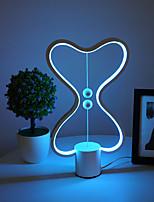 Недорогие -баланс светодиодная настольная лампа умный lampara магнитный воздушный выключатель USB творческий спальня прикроватная ночь свет двойной сердце красочные подарок