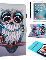 cheap -Case & 1pcs Stylus pen & 1pcs Screen Protect For Apple iPad Air / iPad (2018) / iPad Air 2 / Pro 9.7 with Stand / Flip / Ultra-thin Back Cover Owl PU Leather