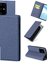 cheap -Case For Samsung Galaxy S20 Plus / S20 Ultra / S20 Card Holder / Shockproof Back Cover Solid Colored PU Leather / TPU