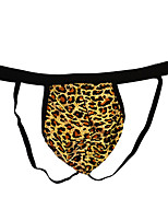 cheap -Men's Cut Out / Print G-string Underwear - Normal Low Waist Yellow Fuchsia One-Size