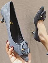 Недорогие -Жен. Обувь на каблуках На шпильке Заостренный носок Полиуретан Весна лето Хаки / Синий / Черный