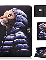Недорогие -чехол для яблока ipad air / ipad mini 3/2/1/4/5 держатель карты / флип / выкройка чехлы для всего тела кошка из искусственной кожи для ipad air 10.5 2019 / ipad 10.2 / pro 11 2020 / ipad 2017 / ipad