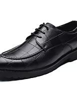Недорогие -Муж. Полиуретан Весна лето На каждый день Туфли на шнуровке Нескользкий Коричневый / Черный