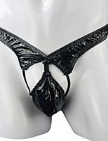 cheap -Men's Cut Out G-string Underwear - Normal Low Waist Black One-Size