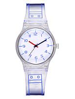 cheap -Ladies Quartz Watches Casual Fashion Black Blue Pink Plastic Chinese Quartz Blushing Pink Blue Black New Design Casual Watch 1 pc Analog One Year Battery Life