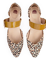 cheap -Women's Sandals Chunky Heel Closed Toe PU Summer Yellow / Orange / Brown