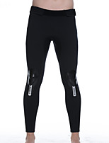 cheap -HISEA® Men's Wetsuit Pants SBR Neoprene Bottoms Thermal / Warm Swimming Diving Patchwork Autumn / Fall Spring Winter