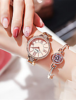 cheap -Women's Quartz Watches Luxury Fashion Alloy Chinese Quartz Rose Gold White+Golden Silver Water Resistant / Waterproof 30 m Analog - Digital One Year Battery Life