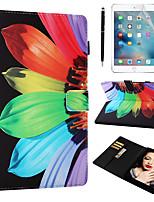 Недорогие -кейс&усилитель; Стилус&усилитель; 1шт защита экрана для Apple Ipad Air / Ipad (2018) / Ipad Air 2 / Pro 9,7 с подставкой / флип / ультратонкий задняя крышка цветок искусственная кожа