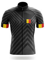 cheap -21Grams Men's Short Sleeve Cycling Jersey Black Bike Jersey Top Mountain Bike MTB Road Bike Cycling UV Resistant Breathable Quick Dry Sports Clothing Apparel / Stretchy