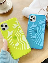 cheap -For Apple iPhone 11 11pro 11promax 8p X XS XSMAX XR 6P 6 7 8 Simple Pattern Fluorescent TPU Material Phone Case