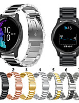 Недорогие -для garmin vivoactive 4 metal smart watch band ремешок из нержавеющей стали