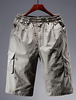 cheap -Men's Hiking Shorts Hiking Cargo Shorts Outdoor Breathable Ultra Light (UL) Sweat-wicking Comfortable Cotton Shorts Bottoms Hunting Fishing Climbing Army Green Khaki Dark Blue XL XXL XXXL 4XL 5XL