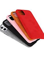 Недорогие -Кейс для Назначение Apple iPhone 11 / iPhone 11 Pro / iPhone 11 Pro Max Матовое Кейс на заднюю панель Плитка ТПУ / Углеродное волокно