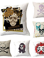 cheap -6 pcs Throw Pillow Simple Classic 45*45 cm Cotton / Linen Pillow Case Geometic Fashion Printing Geometric Fashion