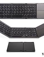 Недорогие -портативная складная беспроводная мини-клавиатура bluetooth для ios / android / windows ipad планшет сенсорная панель клавиатуры