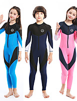 cheap -ZCCO Boys' Girls' Rash Guard Dive Skin Suit Diving Rash Guard One Piece Swimsuit Swimwear Diving Suit Bodysuit Full Body Front Zip - Swimming Diving Surfing Patchwork Autumn / Fall Spring Summer