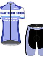 Недорогие -21Grams Жен. С короткими рукавами Велокофты и велошорты Синий / белый Пэчворк Новинки Велоспорт Наборы одежды Дышащий Быстровысыхающий Ультрафиолетовая устойчивость Впитывает пот и влагу Виды спорта