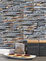 Недорогие -20x10cmx9pcs деревенский камень кирпичные стены наклейки ретро маслостойкие водонепроницаемые плитки обои для кухни ванная комната земля стены украшения дома