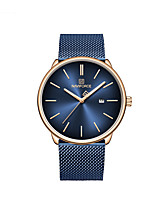 cheap -NAVIFORCE Ladies Quartz Watches Casual Fashion Black Blue Silver Stainless Steel Japanese Quartz Gold Blue Silver Water Resistant / Waterproof Calendar / date / day Luminous 30 m 1 pc Analog Two