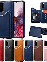 cheap -Case For Samsung Galaxy Note 9 / Galaxy S10 / Galaxy S10 Plus Card Holder / with Stand / Magnetic Back Cover Solid Colored PU Leather / TPU