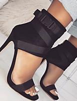 cheap -Women's Sandals Stiletto Heel Open Toe PU Summer Red / White / Black