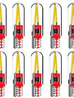 Недорогие -10 шт. T10 светодиодные w5w автомобильная лампа 194 светодиодные t10 початки 501 168 освещение салона парковка белый синий сигнал автомобиля сигнал авто стайлинга автомобилей