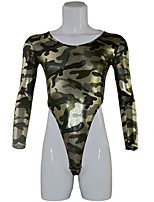 cheap -Men's Print Bodysuits Nightwear Camouflage Light Brown Army Green One-Size