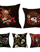 cheap -5 pcs Throw Pillow Simple Classic 45*45 cm Linen Pillow Case Animal Graphic Prints Casual Retro Country