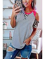 cheap -Women's Leopard Criss Cross Print T-shirt Daily White