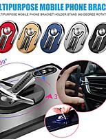 cheap -Multipurpose 360 Rotation Mobile Phone Stand Bracket Magic Car Air Vent Phone Zinc Alloy Stand Holder Desktop Desk Ring Stand