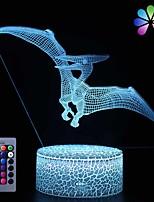 Недорогие -3d ночник для детей детские лампы динозавров с умным сенсорным пультом дистанционного управления usb&усилитель; ночные огни на батарейках юрский динозавр игрушка подарок на день рождения