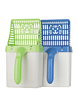 cheap -Dog Cat Cleaning Plastic Pooper scooper Casual Pet Grooming Supplies Green Blue