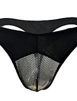 cheap -Men's Mesh Briefs Underwear - Normal Low Waist White Black One-Size