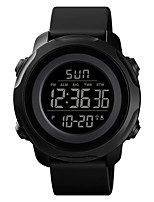 cheap -SKMEI Unisex Sport Watch Digital Modern Style Sporty Silicone Black / Blue / Green 50 m Calendar / date / day Chronograph Alarm Clock Digital Outdoor Army - Green Blue Black One Year Battery Life