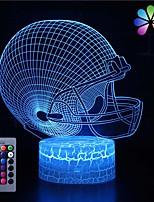 Недорогие -3d футбол кепка ночной свет сенсорный 16 изменение цвета с пультом дистанционного управления детская игрушка usb лампа светодиодная настольная лампа украшения дома подарок для мальчиков&усилитель;