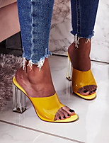 cheap -Women's Sandals Chunky Heel Open Toe PU Summer Purple / Yellow