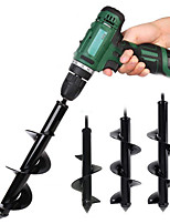 cheap -Hand Electric Drill General Garden Planting Flowers And Vegetables Spiral Leaf Drill Bit Pit Digging Drill Bit