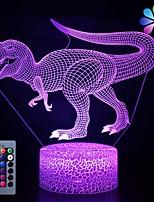Недорогие -динозавр игрушки ночник - 3d ночник с тремя узорами&усилитель; дистанционное управление&усилитель; smart touch16 цвета меняются затемняемые подарки на день рождения для 2 3 4 5 6 7 8 лет